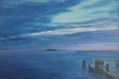 Lagune vanaf Treporti, 50/70 cm, olieverf op doek