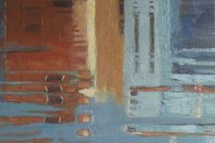 Burano, weerspiegeling, 40/30 cm, olieverf op doek