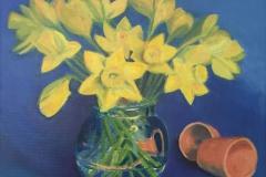 Narcissen, 50/50 cm, olieverf op doek