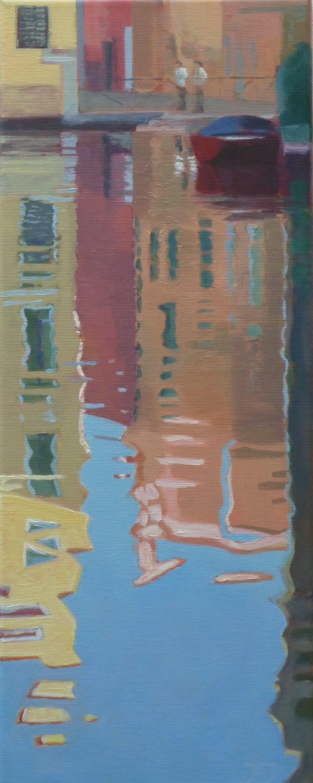 Venetië weerspiegeling 1, 50/20 cm, olieverf op doek