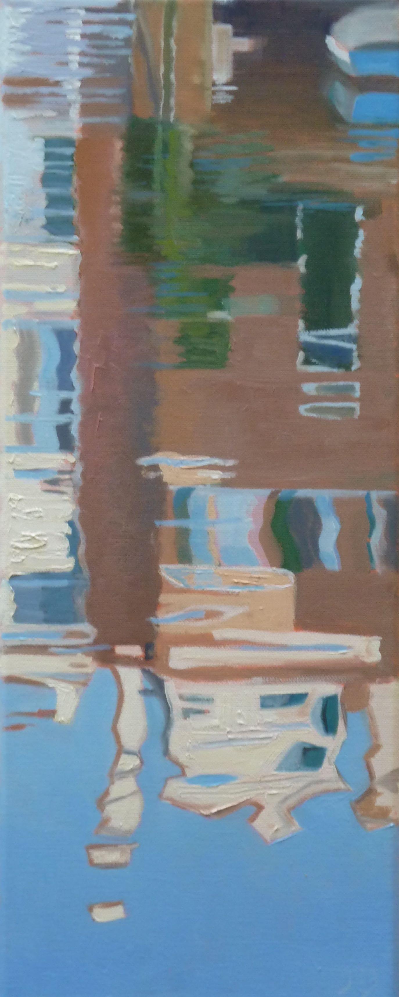 Venetië weerspiegeling 2, 50/20 cm, olieverf op doek