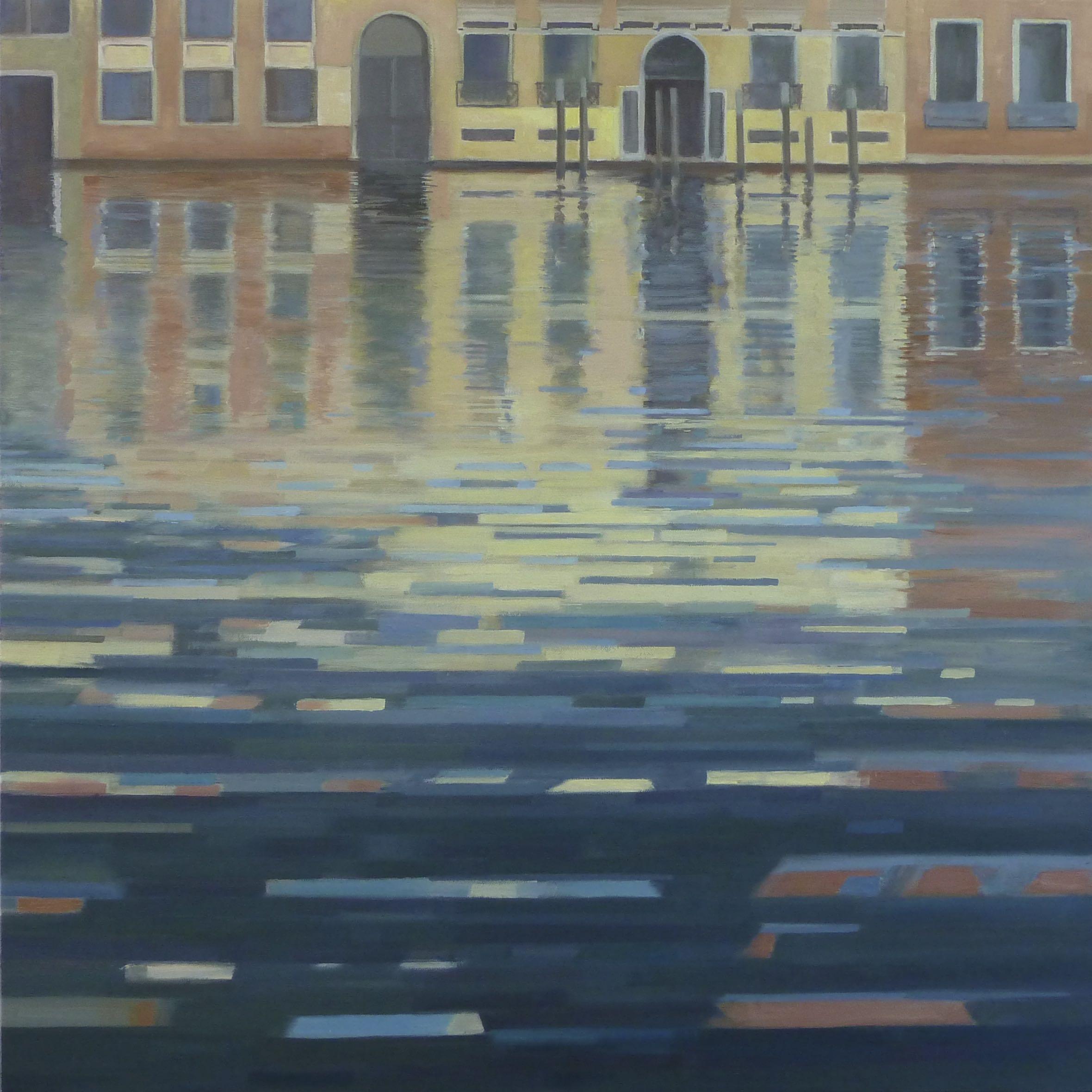 Venetië, Canal Grande 2, 70/70 cm, olieverf op doek