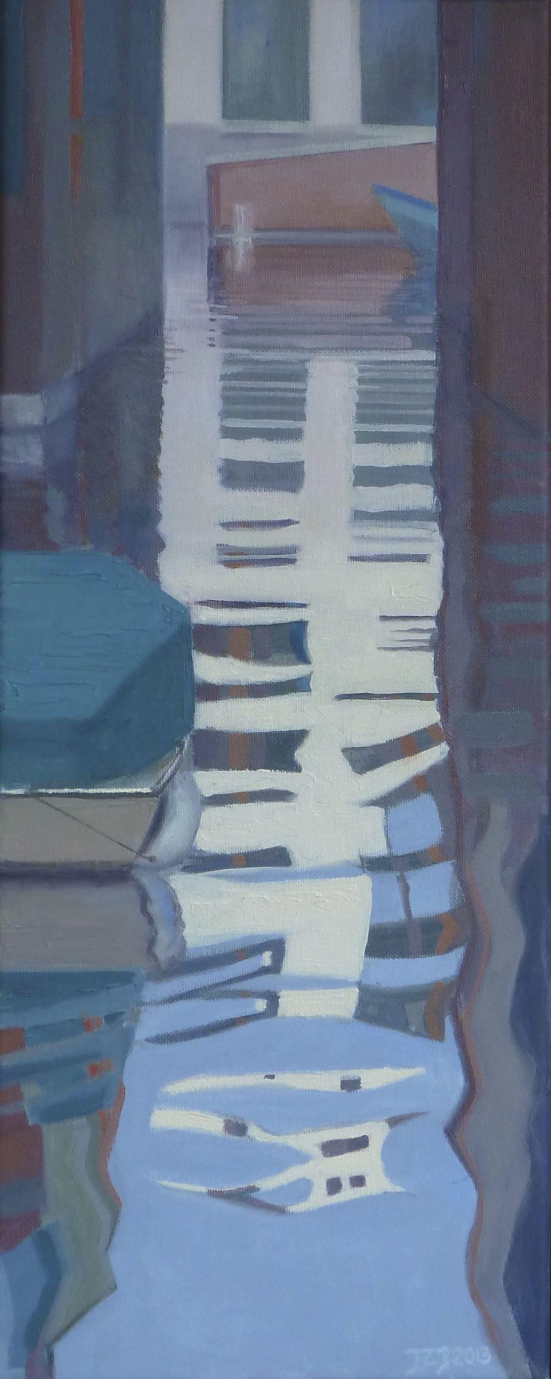 Venetië 2, 50/20 cm, olieverf op doek