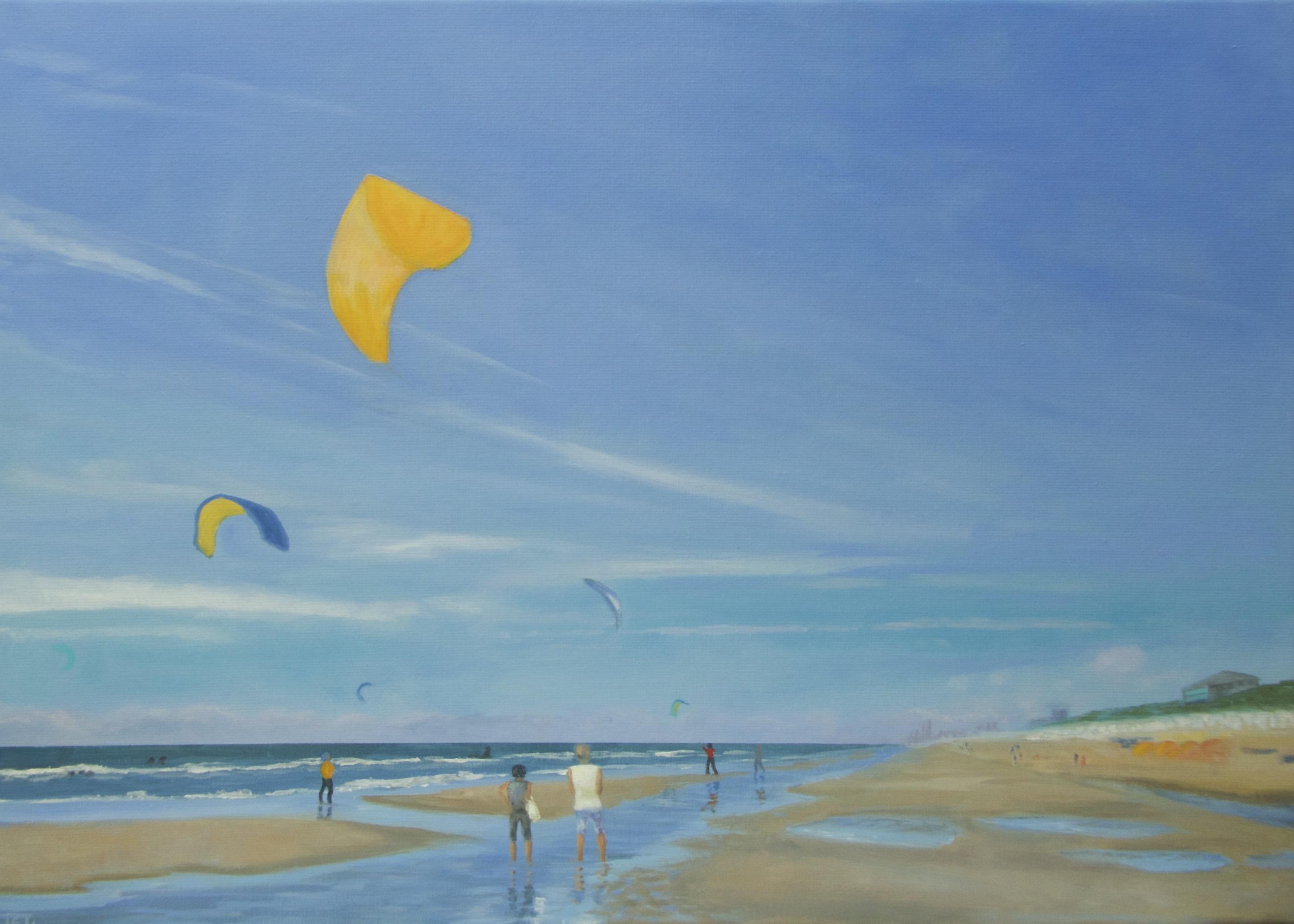 Beach, 50/70 cm, olieverf op doek