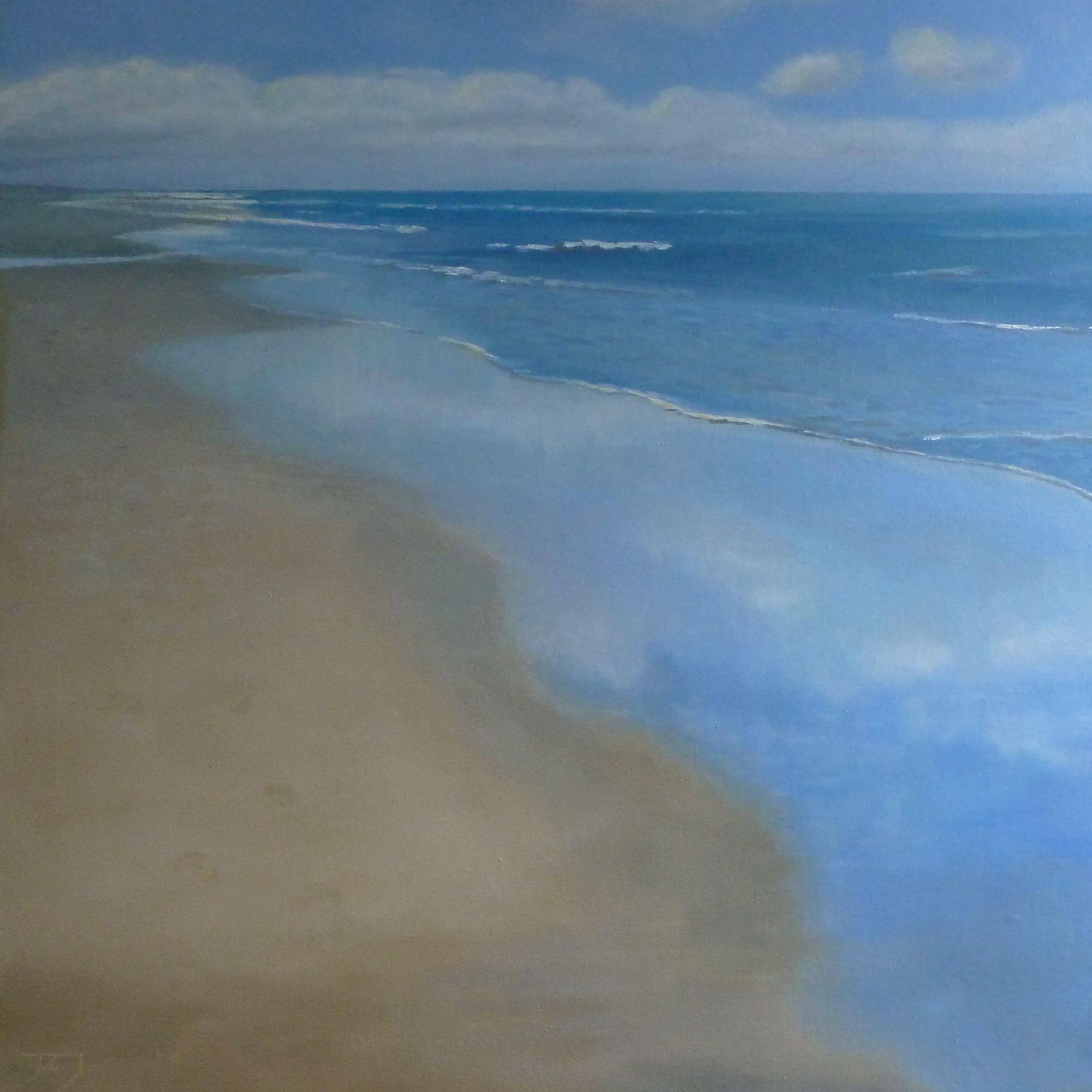 Strandwandeling 2, 80/80 cm, olieverf op doek