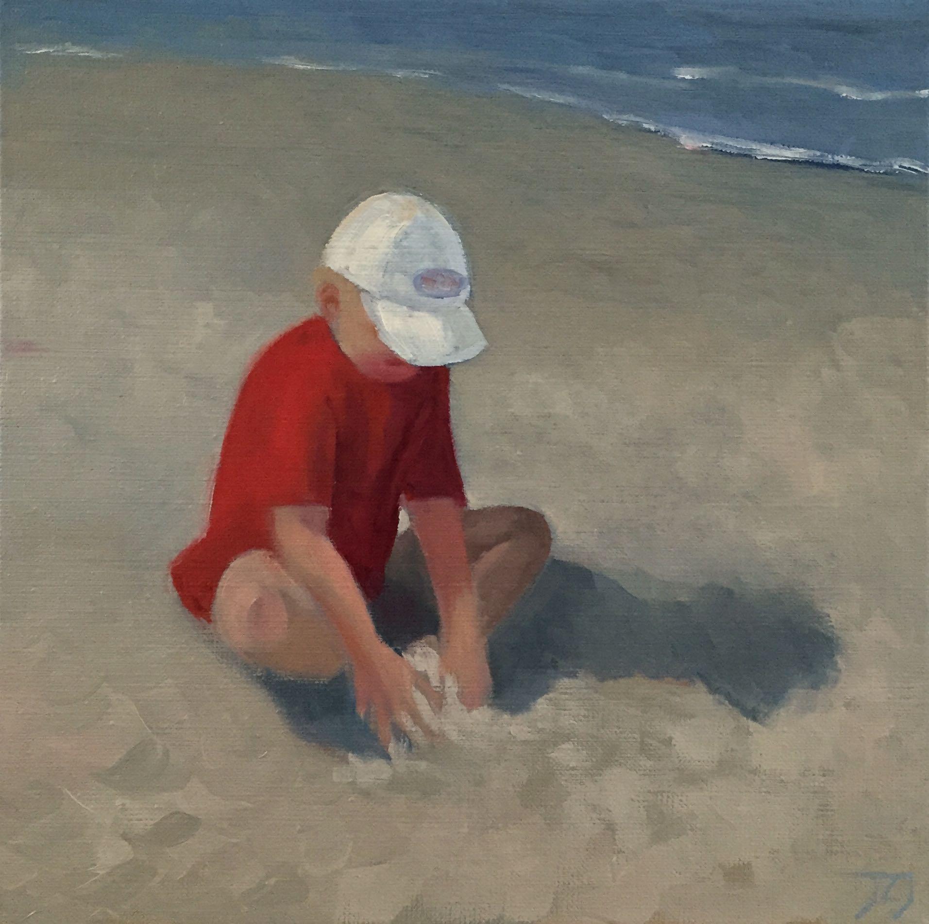 Zand, 30/30 cm, olieverf op doek