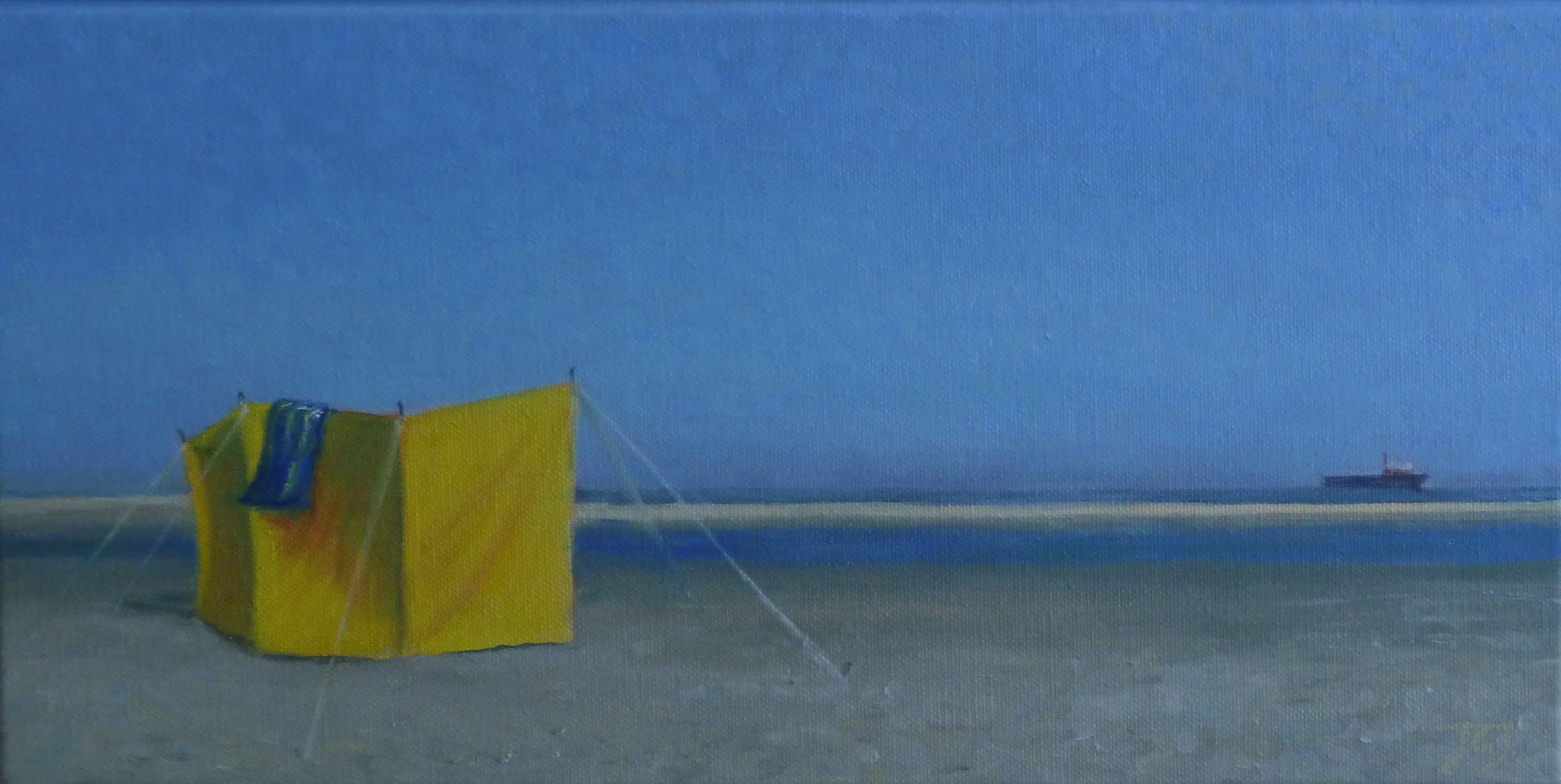 Schiermonnikoog, 20/40 cm,olieverf op doek, verkocht