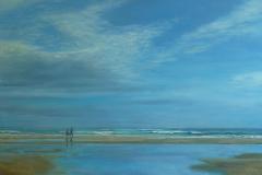 Strandwandeling 1, 60/90 cm, olieverf op doek
